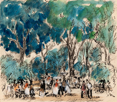 The Park; Gifford Beal; American, 1879-1956; 1950.9