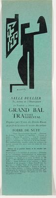 Flyer for Grand Bal des Artistes Travesti Transmental