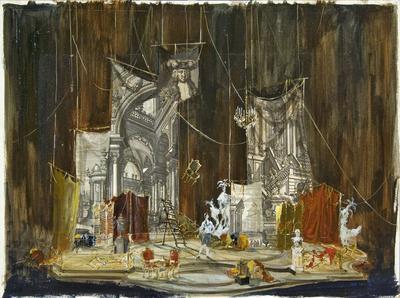 Scene design for the prologue in Ariadne auf Naxos
