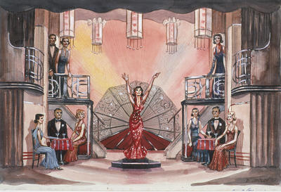 Scene design for Blow Gabriel Blow, Act II, scene 1, in Anything Goes