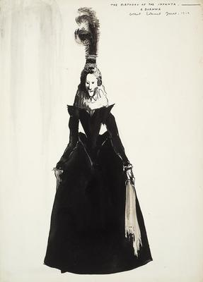 Costume design for a Duenna in The Birthday of the Infanta; Robert Edmond Jones; American, 1887-1954; TL1999.94.3