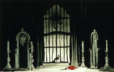 Scene design for the Hall of Mirrors, scene 2, in The Birthday of the Infanta; Robert Edmond Jones; American, 1887-1954; TL1999.95