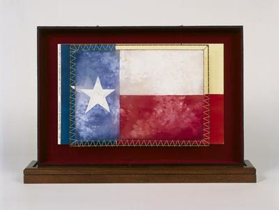 Maquette for Texas flag scrim in The Best Little Whorehouse in Texas