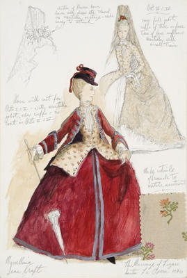 Costume design for Marcellina in The Marriage of Figaro