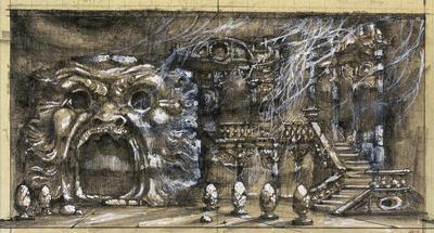 Scene design for Inner Spirit in Bomarzo; Ming Cho Lee; American, born China, 1930-2020; TL1999.156