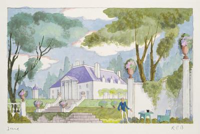 Scene design for Irene; Raoul Pène Du Bois; American, 1912-1985; TL1999.226