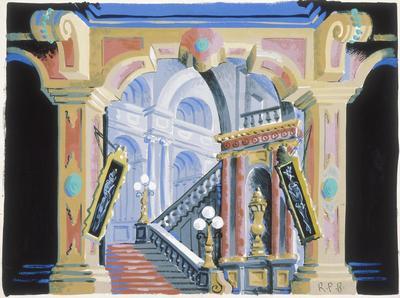 Scene design for Lend an Ear; Raoul Pène Du Bois; American, 1912-1985; TL1999.227