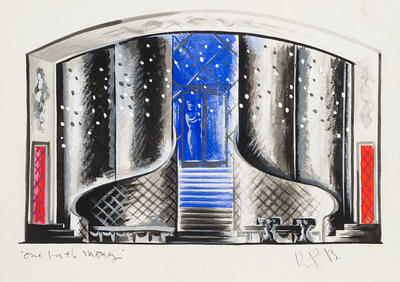 Scene design for One for the Money; Raoul Pène Du Bois; American, 1912-1985; TL1999.229