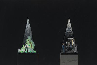 Scene design for Plain and Fancy; Raoul Pène Du Bois; American, 1912-1985; TL1999.230