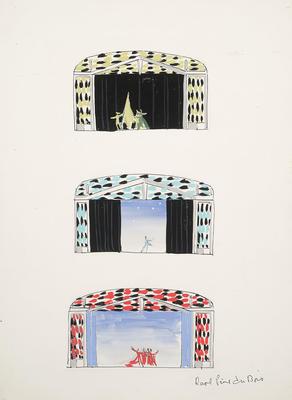 Scene designs for Sons o' Fun; Raoul Pène Du Bois; American, 1912-1985; TL1999.231.2