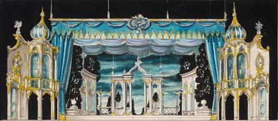 Scene design for the Garden of the Seraglio in The Abduction from the Seraglio