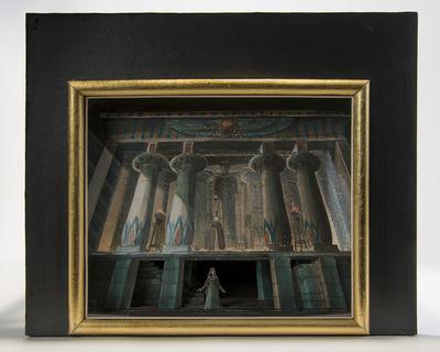 Maquette for the tomb scene, Act IV, scene 2, in Aida