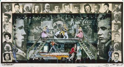 Scene design for Grease; Douglas Schmidt; American, born 1942; TL1999.287