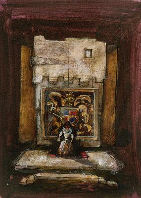 Scene design for the Throne Room in Mary Stuart; Douglas Schmidt; American, born 1942; TL1999.288.5