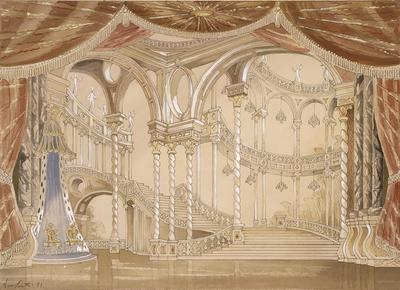 Scene design for Act III in Sleeping Beauty; Oliver Smith; American, 1918-1994; TL1999.309