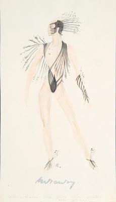 Costume design for Mercury in The Bassarids; Rouben TerArutunian; American, born Russia (now Georgia), 1920-1992; TL1999.341