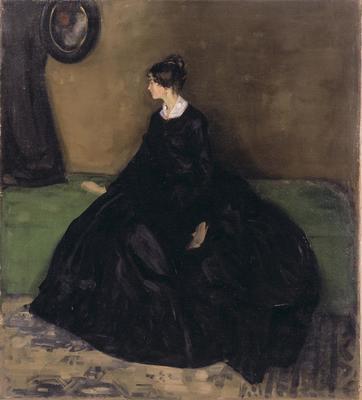 Lady in Black; Alfred Maurer; American, 1868-1932; 1959.3