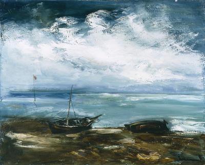 Beached Fishing Boats; Maurice de Vlaminck; French, 1876-1958; 1959.6