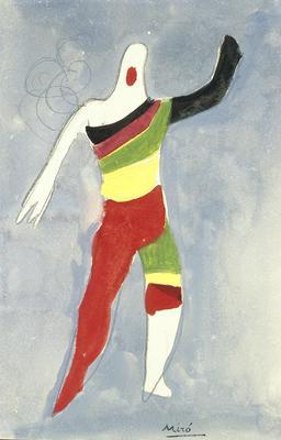 Costume design for a Spinning Top in Jeux d'Enfants (Children's Games)