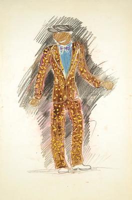 Costume design for Little Joe in Cabin in the Sky; Boris Aronson; American, born Russia (now Ukraine), 1898-1980; TL2001.7.1
