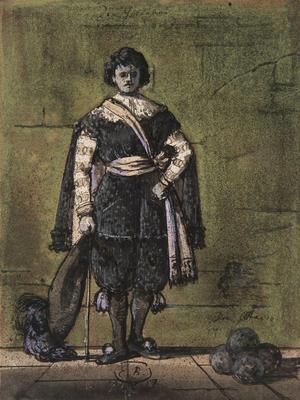 Costume design for Don Ottavio in Don Giovanni