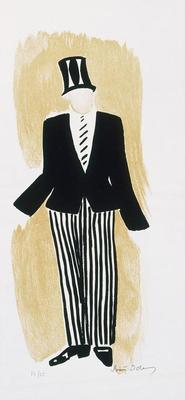 Costume design for Groom in Le Coeur à Gaz (The Gas Heart); Sonia Delaunay; French, born Russia (now Ukraine), 1885-1979; TL2001.49.4