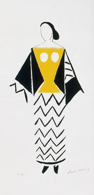 Costume design for Bride in Le Coeur à Gaz (The Gas Heart); Sonia Delaunay; French, born Russia (now Ukraine), 1885-1979; TL2001.49.2