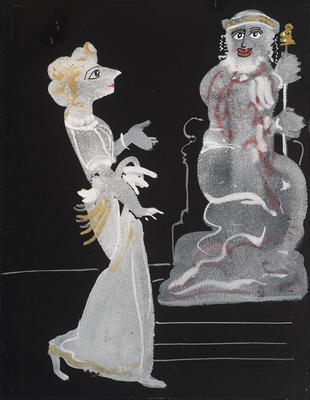 Salomé and Herod for the 1938 Limited Editions Club publication of Salomé; André Derain; French, 1880-1954; TL2001.53.7
