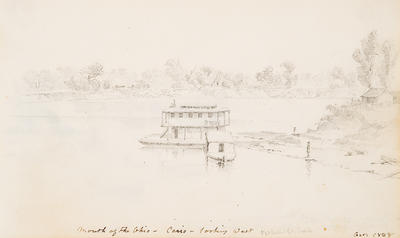 Mouth of the Ohio River, Cairo, Looking West, October 1848, from Sketchbook