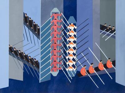Design for a revue with boats for Alexandra Exter: Decors de Theatre