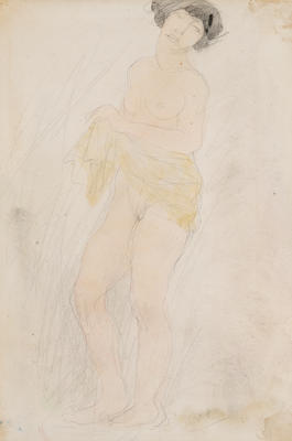 The Yellow Scarf; Auguste Rodin; French, 1840-1917; 1950.126