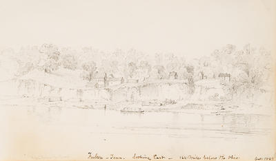 Fulton, Tennessee,  Looking East, 164 Miles Below Mouth of the Ohio River, October 1848, from Sketchbook