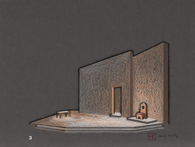 Design for a Room in The Tragical History of Dr. Faustus; Henry Kurth; American, 1917-1999; TL1995.3.5.3