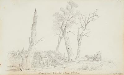 Woodyard, 1 Mile Above Sterling, October 1848, from Sketchbook