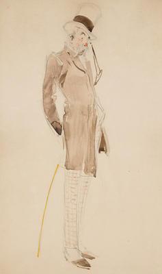 Costume design for Lord Miff, Act I, in The Bare Idea; Everett Shinn; American, 1876-1953; TL2001.120.1