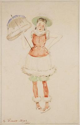 Costume design for Mary in The Bare Idea; Everett Shinn; American, 1876-1953; TL2001.120.2