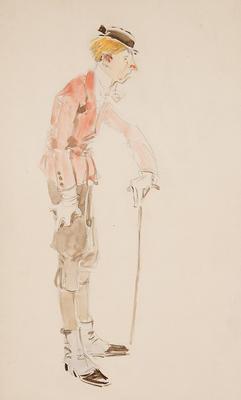 Costume design for Wazzy in The Bare Idea; Everett Shinn; American, 1876-1953; TL2001.120.3